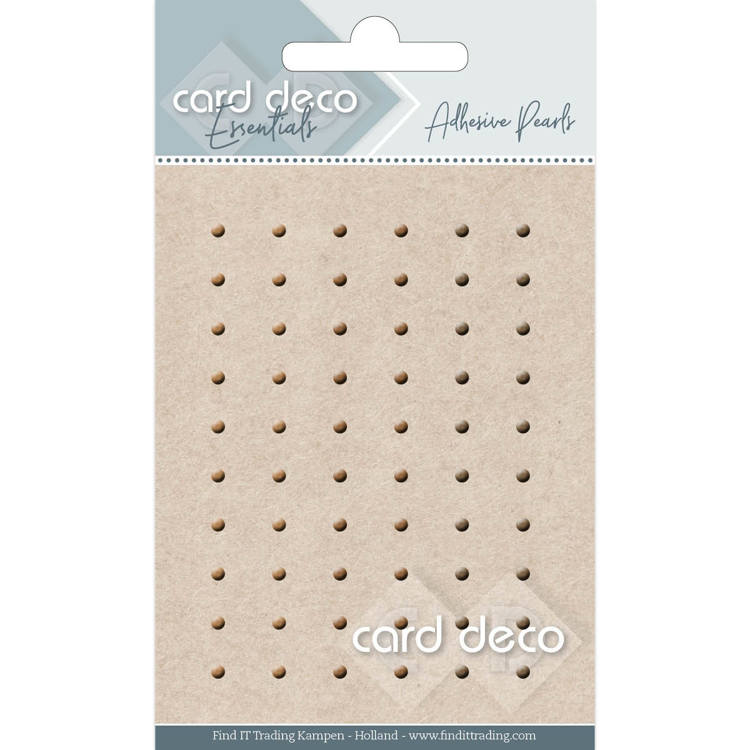 Card Deco Essentials - Adhesive Pearls - bruin