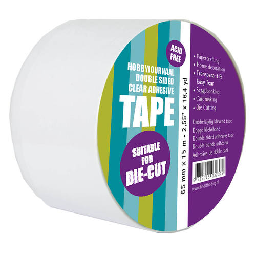 Hobbyjournaal Double Sides Clear Adhesive tape 65 mm (PAKKETPOST)