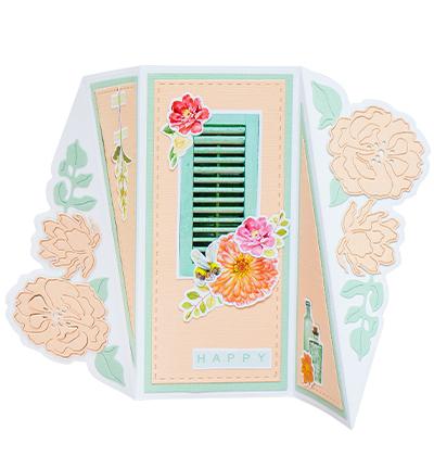 STENCILSL399 - SL Cutting Die Cardshape Twisted gate Essentials nr.399