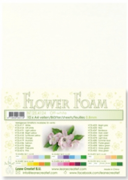 LeCrea - Flower Foam sheets 1 vel A4 Gebroken wit