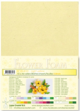LeCrea - Flower Foam sheets 1 vel A4 Light yellow