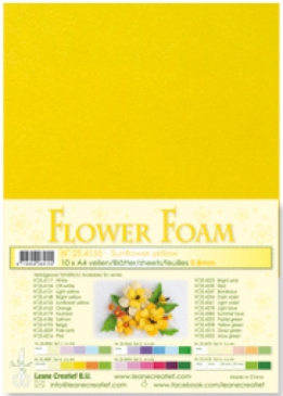LeCrea - Flower Foam sheets 1 vel A4 Sunflower yellow