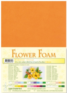 LeCrea - Flower Foam sheets 1 vel A4 Orange