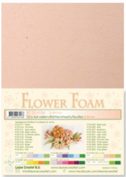 LeCrea - Flower Foam sheets 1 vel A4 Salmon