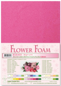 LeCrea - Flower Foam sheets 1 vel A4 Bright pink
