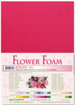 LeCrea - Flower Foam sheets 1 vel A4 Red