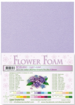 LeCrea - Flower Foam sheets 1 vel A4 Light violet