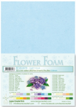 LeCrea - Flower Foam sheets 1 vel A4 Light blue
