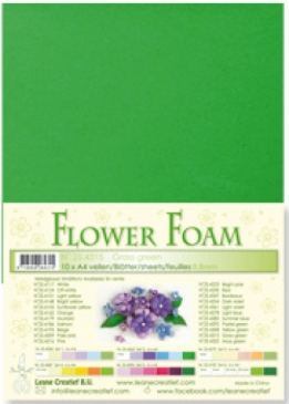 LeCrea - Flower Foam sheets 1 vel A4 Grassgreen