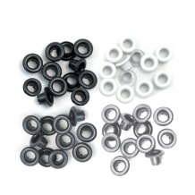We R Memory Keepers standard eyelets aluminium grey