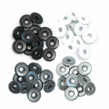 We R Memory Keepers wide eyelets grey