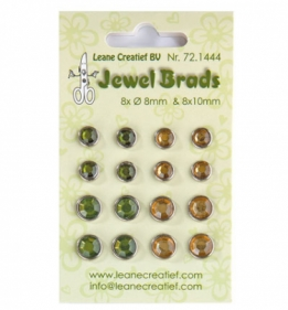 Jewel Brads Moss green/light gold