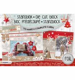 Stansblok Die Cut Folie, Scandinavian Winter nr.13