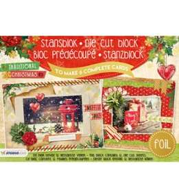 Stansblok Die Cut Folie, Traditional Christmas nr.16
