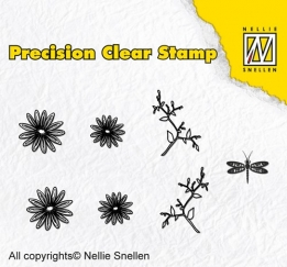 APST014 - Precision clear stamps Nature marguerite