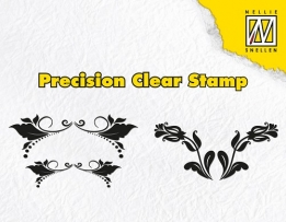 APST019 - Precision clear stamps leaves & double tulips