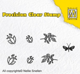 APST023 - Precision clear stamps Nature fuchsia