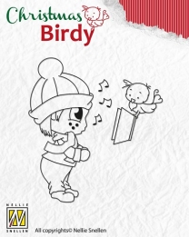 BC002 Clear Stamp Christmas Birdie - Christmas song