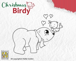 BC003 Clear Stamp Christmas Birdie - I love you