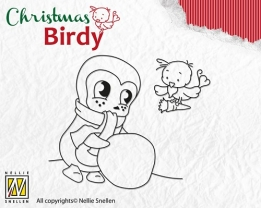 BC004 Clear Stamp Christmas Birdie - Teamwork