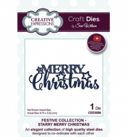 CED3086 Craft Dies Starry Merry Christmas