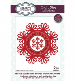 CED3121 Craft Dies Looped snowflake frame