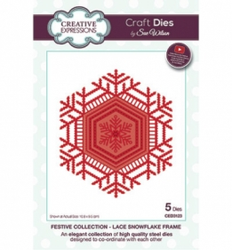 CED3123 Craft Dies Lace snowflake frame