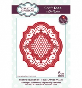 CED3125 Craft Dies Holly Lattice Frame