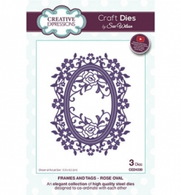 CED4330 Craft Dies Rose Oval