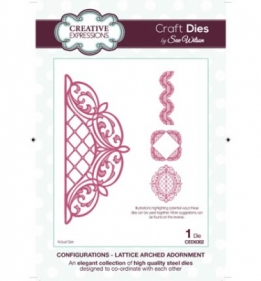 CED6302 Craft Dies Lattice Arched Adornment