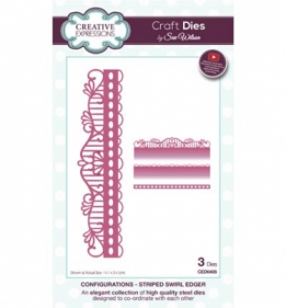 CED6408 Craft Dies Striped Swirl Edger