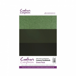 Luxury Cardstock Pack - Green (A4)
