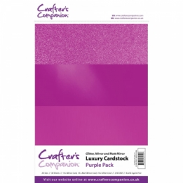 Luxury Cardstock Pack - Purple (A4)