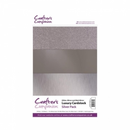 Luxury Cardstock Pack - Silver (A4)