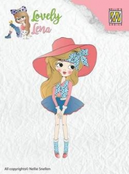 CSLL001 - clear stamps - Lena - Pretty Lena