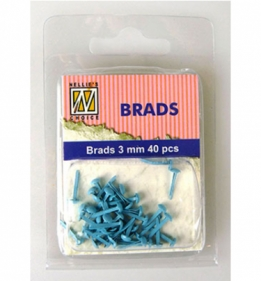 Splitpen/brads 3 mm baby blue