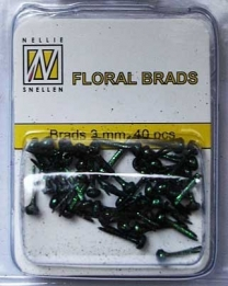 Splitpen/brads 3 mm glitter Black/green