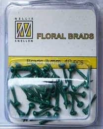 Splitpen/brads 3 mm glitter Bottle green