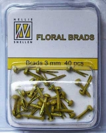 Splitpen/brads 3 mm glitter Yellow