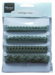 Vintage lace christmas green
