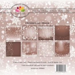 Dixi Paper Pack 15x15 cm Christmas Joy brown