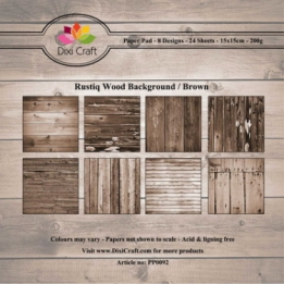 Dixi Paper Pack 15x15 cm Ristiq wood - brown