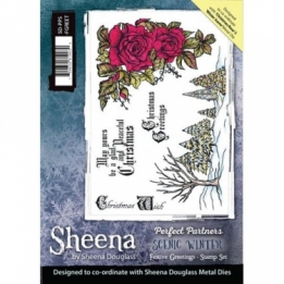 Sheena Perfect Partners A5 stamp - Festive Greetings