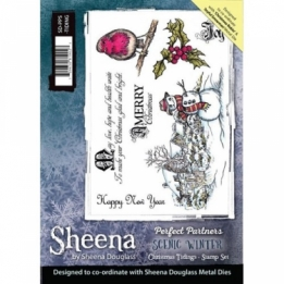 Sheena Perfect Partners A5 stamp - Christmas Tidings
