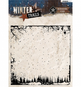Stamp Background Winter Trails nr.304