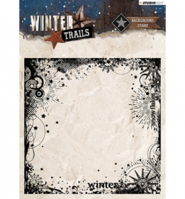 Stamp Background Winter Trails nr.305