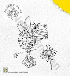 SWE004 Clear Stamp Sweet Elin Frog on Flower