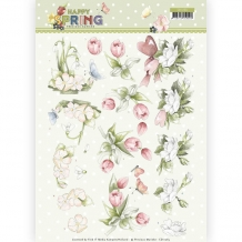 CD11265 3D knipvel - PM - Happy Spring - Happy Spring Flowers