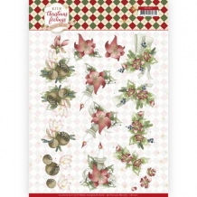 CD11317 3D knipvel - PM - Warm Christmas Feelings - Red Centrer Pieces