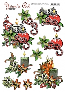 CD11383 - Yvon's Art - Christmas Candles